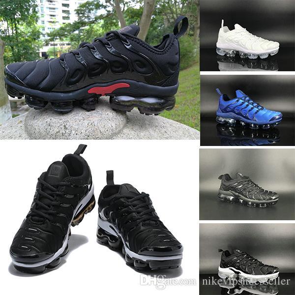 new style e91c9 36ba4 Acheter 2019 Nike Air Max TN Plus Fades Work Blue TN Plus Hommes Femmes  Chaussures De Course Pure Platinum Bright Crimson Hyper Arc En Ciel Hommes  Volt Wolf ...
