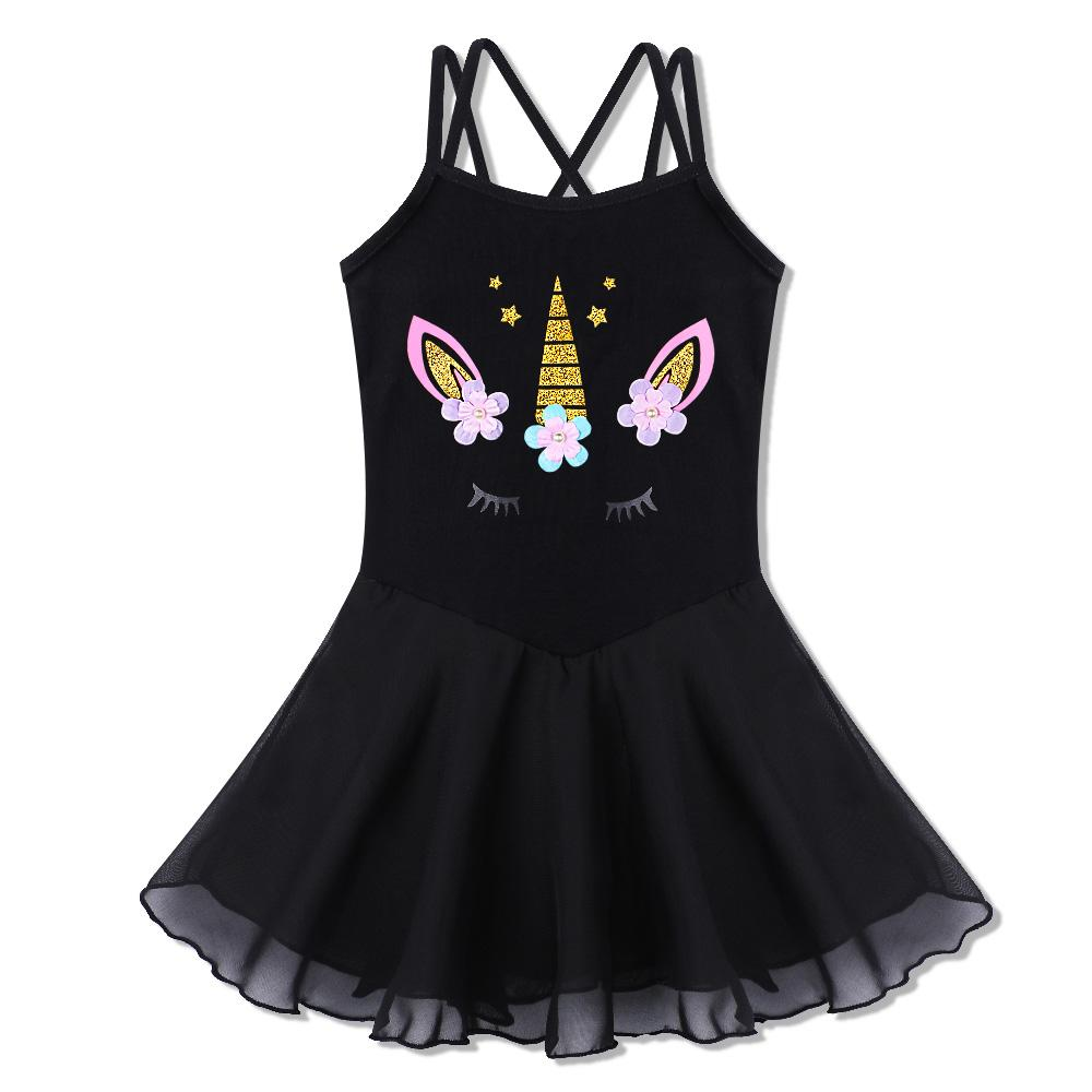 BAOHULU Pretty Little Girls Ballet Leotards Cartoon Flowers Dress Dance Tutu Christmas Halloween Costume Dress Girls tutu
