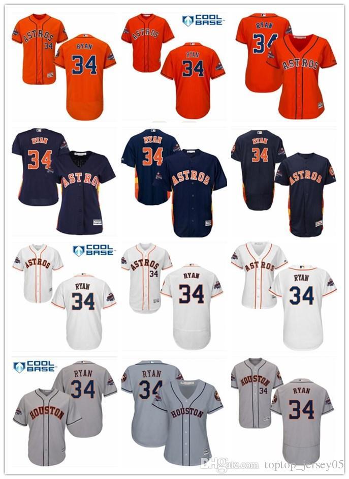 wholesale dealer 5ebaa 9f4f6 2018 top Houston Astros Jerseys #34 Nolan Ryan Jerseys men#WOMEN#YOUTH#Men  s Baseball Jersey Majestic Stitched Professional sportswear