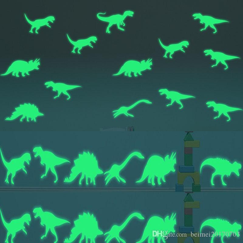 Dinosaur Jurassic World Figures Indominus Rex Luminous stickers toy Glow in  the Dark Jurassic Park Dinosaur Luminous Toys Girls