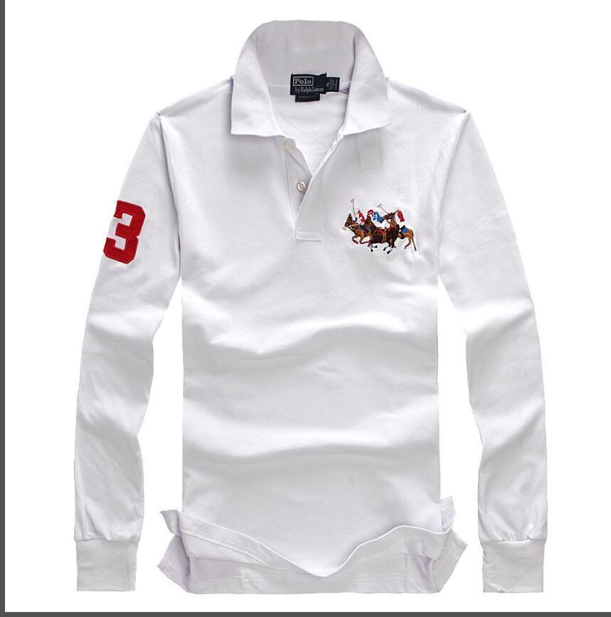 Lapel T Shirt Apparel Ralph Sleeve Pure Turn Color Cotton Men's Thin Polo 11 Lauren Long 2019 Bottom SzpGqMUV