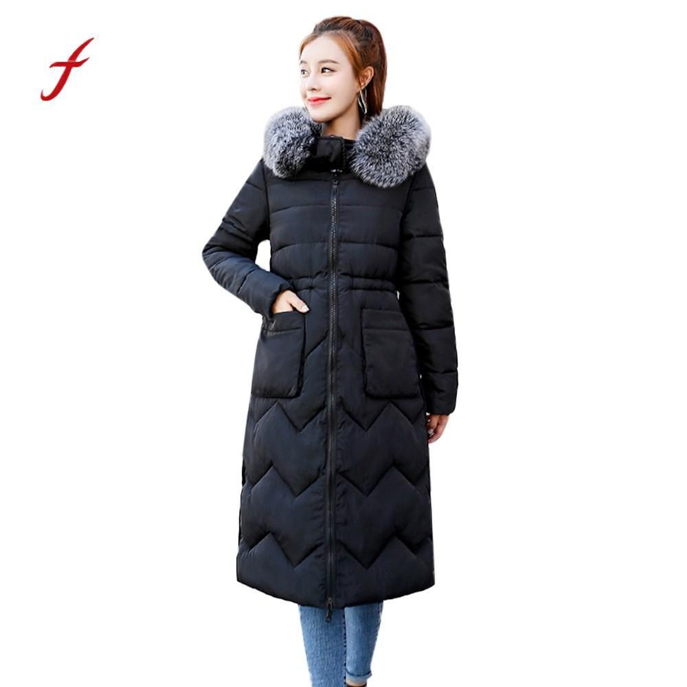 049f5191125 2019 Womens Coat Winter Fashion 2018 Coat Down Jacket Ladies Fur Jacket Warm  With A Hood Long Puffer Parka Roupas Femininas From Tielian, $51.34    DHgate.