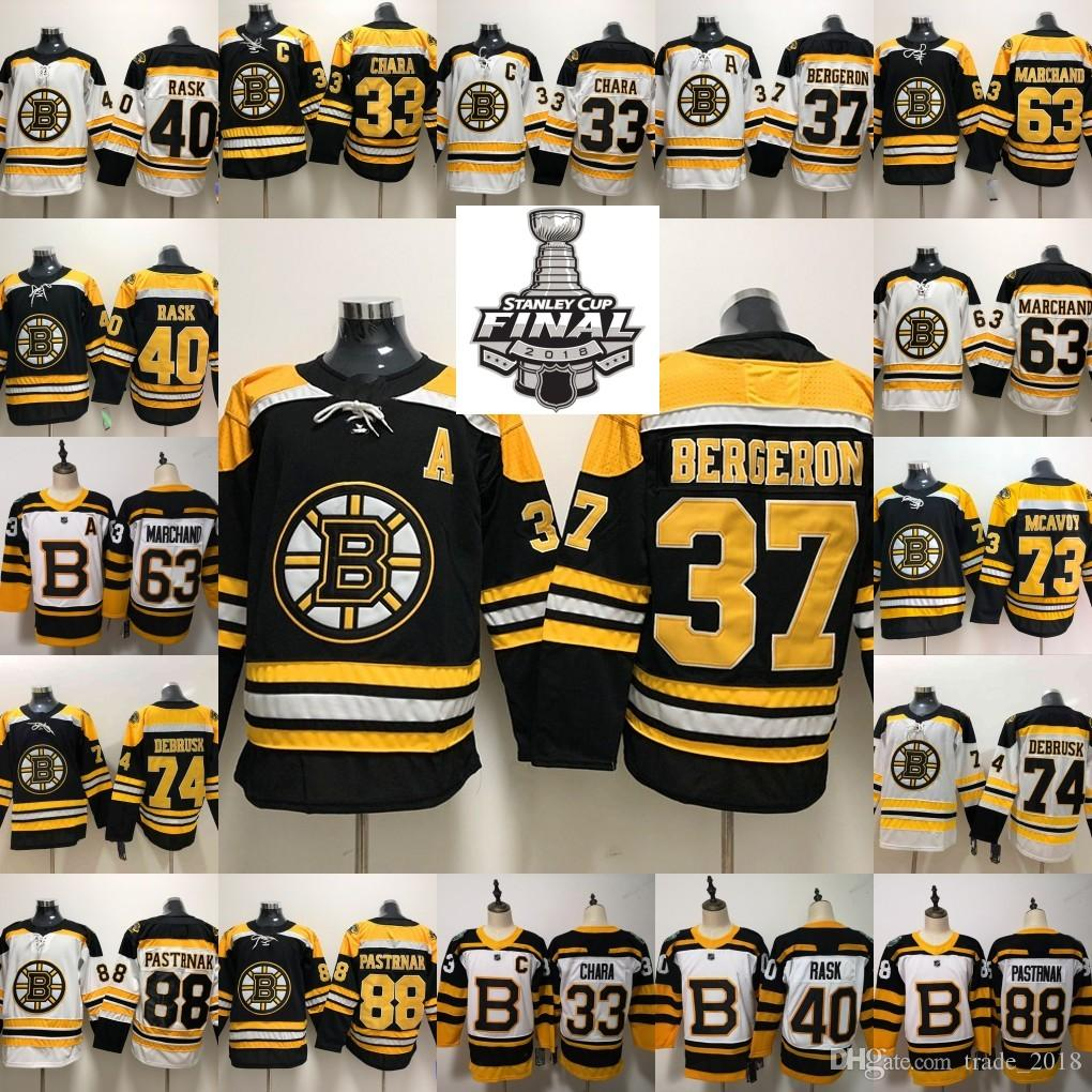 cheaper beefb 598ee 2019 Stanley Cup Boston Bruins Charlie Mcavoy Jersey Jake DeBrusk Zdeno  Chara Patrice Brad Marchand Cam Neely David Pastrnak Hockey Man