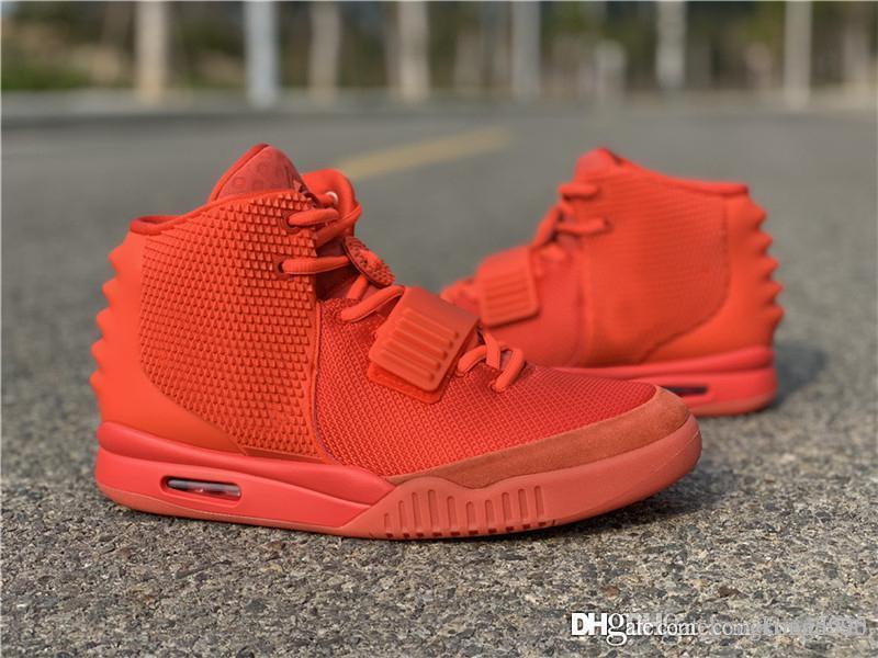 3b5e394d4 Air 2 SP NRG Red October Kanye West Basketball Shoes II OCT RED Men ...
