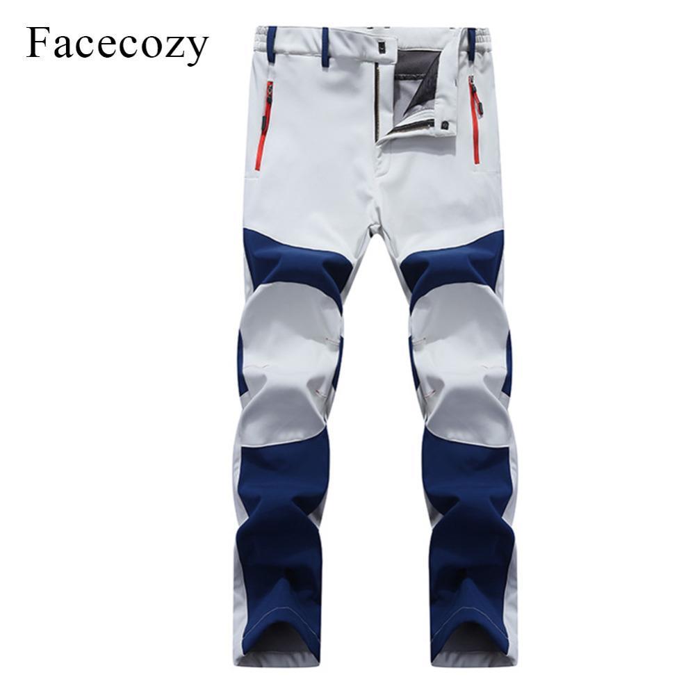 8b765f03ff999 2019 Facecozy Men Softshell Pants Outdoor Waterproof Fleece Hiking Camping  Winter Men Sports Trousers For Trekking Hunting Fishing From Yiyunwat, ...