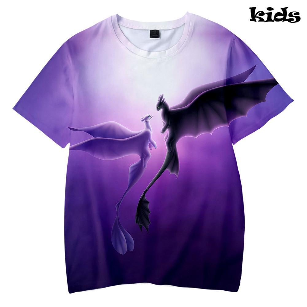 09042ddb8b06 How To Train Your Dragon 3D Cool Kids T Shirt Cartoon 2019 New Summer Cool  Streetwear Casual Boys Girls Fashion Summer Best Tee Shirts T Shirts Cheap  From ...