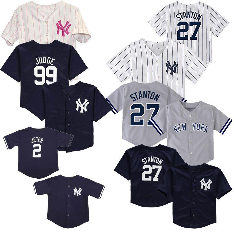 best service 2a0cb 9bbc5 Baby New York Aaron Judge Jersey Gleyber Torres Masahiro Tanaka Jacoby  Ellsbury Gary Sanchez Aroldis Chapman Infant Yankees Baseball Jerseys