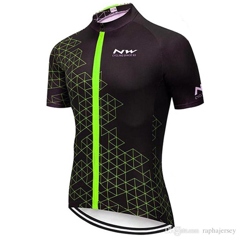 Triathlon NW team Cycling Short Sleeves jersey Hot sale style 2019 Men summer Cycling Clothing Racing Sport Bike Tops Factory direct sales