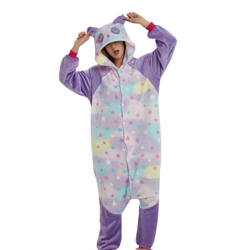 275efbe99cf20a Mais Barato Padrão de Estrela Panda Onesie Kigurumi Animal Adulto Pijama  Para O Dia Das Bruxas Homens Cosplay Festa de Carnaval