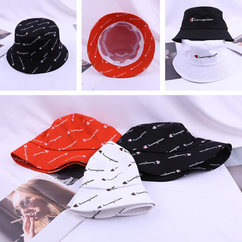Designer Bucket Hat Champion AD NK Fashion Letter Bucket Hats For Mens Womens Foldable Caps Black Fisherman Beach Sun Bowler Cap C61302