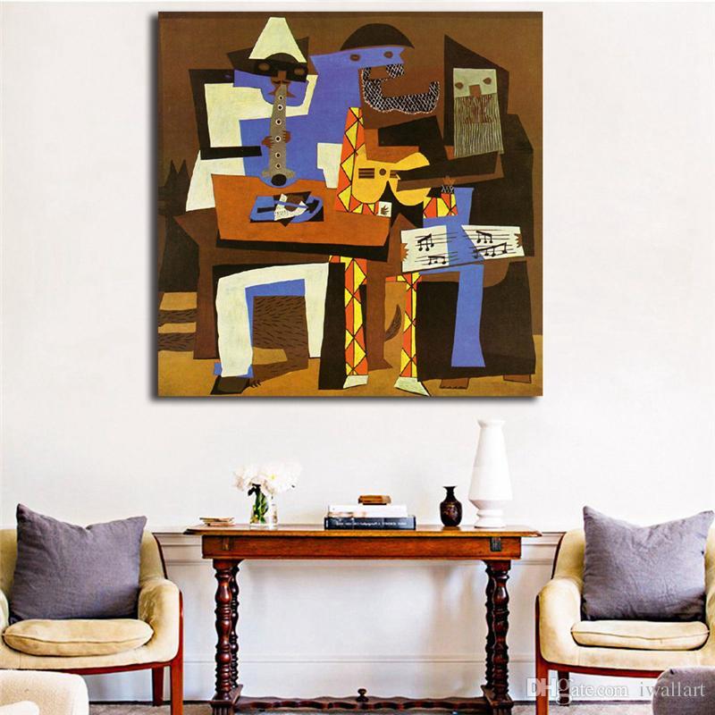 Großhandel Drei Musiker Durch Pablo Picasso HD Leinwand Malerei ...