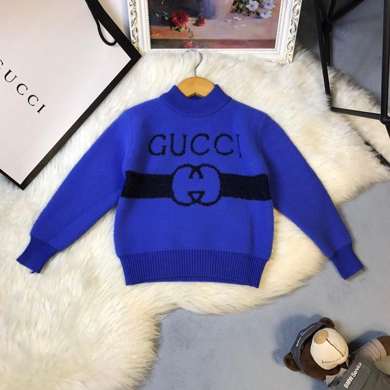 00becc2220f5 Blended Winter Sweaters For Children Male Girl Solid Color Concise ...