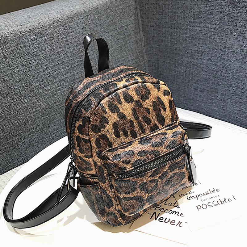 2eeae0f6cb46 Leopard Print Small Backpacks For Women 2019 Kids Backpack Travel Back Pack  Teens Girls Fashion Bags Multiple Back Methods Swiss Backpack Laptop  Rucksack ...