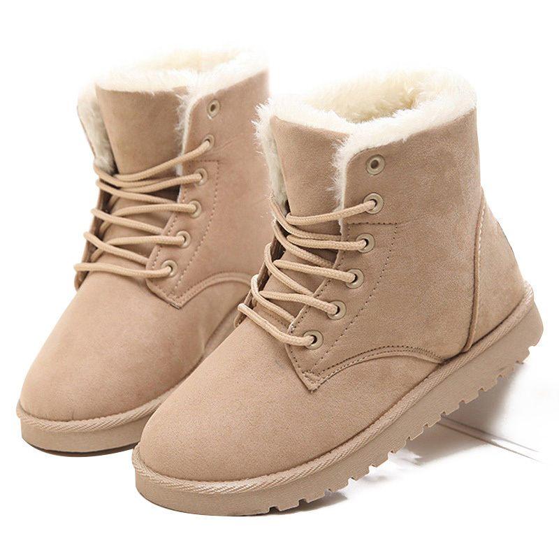 46e47b1ed2155 2019 LAKESHI Hot Women Boots Winter Warm Snow Boots Women Botas ...