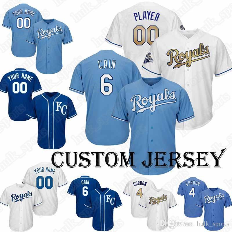 official photos b01f1 af444 Kansas City jerseys Royals 15 Whit Merrifield jersey 21 Homer Bailey  Baseball Custom jersey 58 Scott Barlow 26 Brad Boxberger T shirt