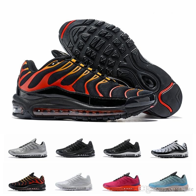 532a9634267963 2019 Chaussures TN Plus 97 SE Tuned 1 Hybird Mens Running Shoes Men  Sneakers 97s Tns Fashion Brand Shock Orange Womens Trainers Size 36 46 Running  Sneakers ...