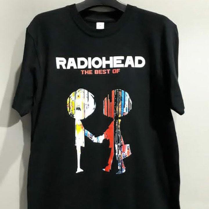0e3cdab850c1 Radiohead 'The Best Of' T-SHIRT Black Cotton New Men's Tshirt Tee funny  100% Cotton t shirt harajuku Short Sleeve Plus Size t-shirt