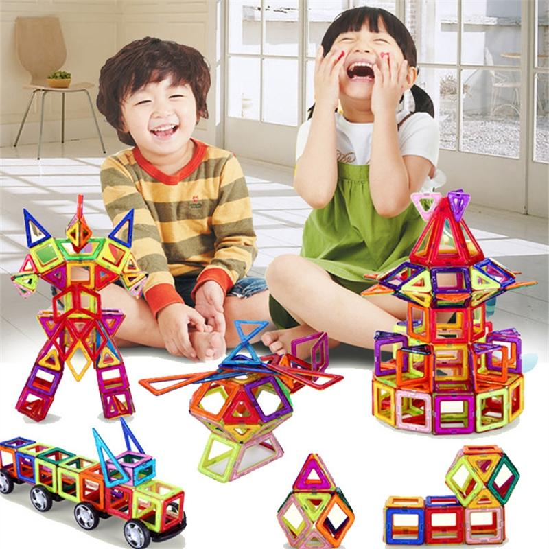 block plant 108 pcs Standard Size DIY Magnetic building blocks magic magnet pulling magnetic building blocks assembled gifts for children