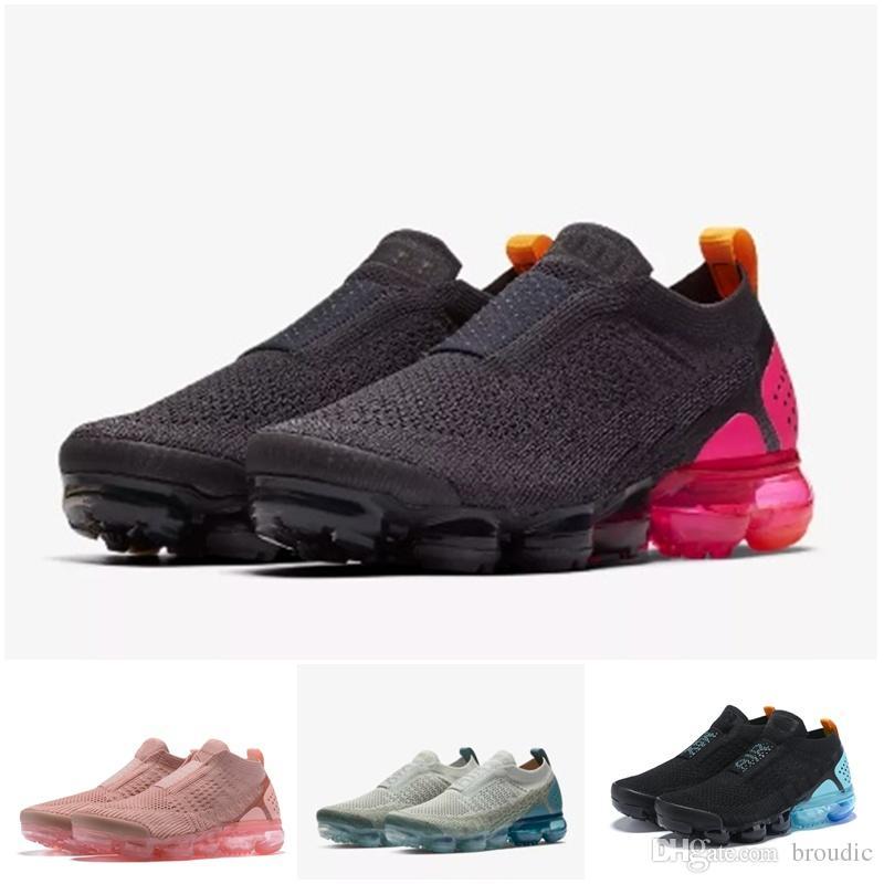 la moitié be037 0a707 2019 Hommes Sans Lacets Multicolore Relâchant Triple nike air max Airmax  Vapormax vapor flyknit Moc 2 Noir Chaussures De Course Pour Femmes Moc 2.0  ...
