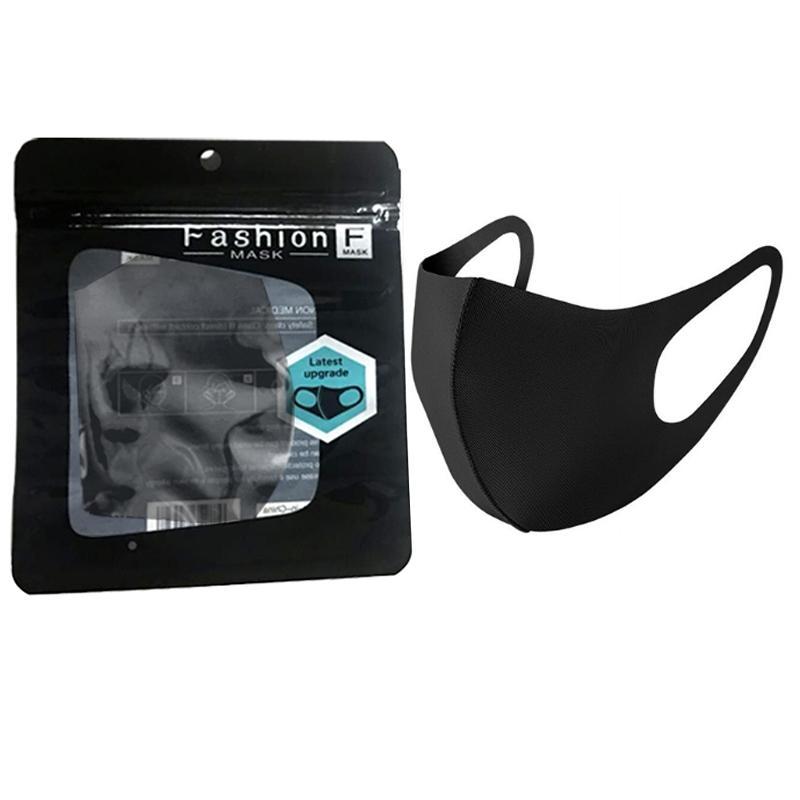 Ağız Buz Yıkanabilir Yüz Maskesi Bireysel Siyah Hediye Paketi Anti Toz PM2.5 Respiratörü toz geçirmez anti-bakteriyel Yeniden kullanılabilir İpek Çanta