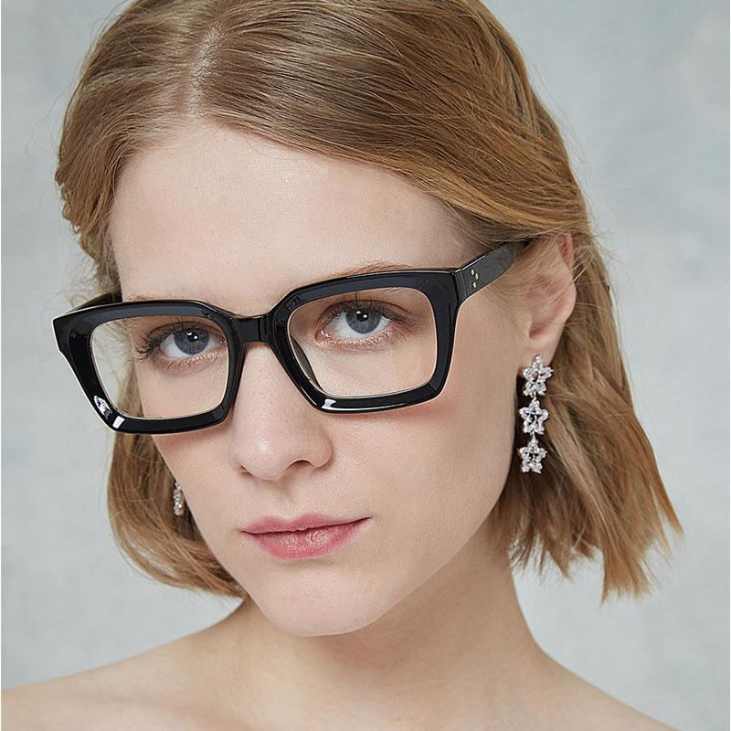 economico per lo sconto cd4a8 89791 Occhiali da vista da vista Occhiali da vista da uomo da donna con montatura  in metallo e occhiali da vista da uomo