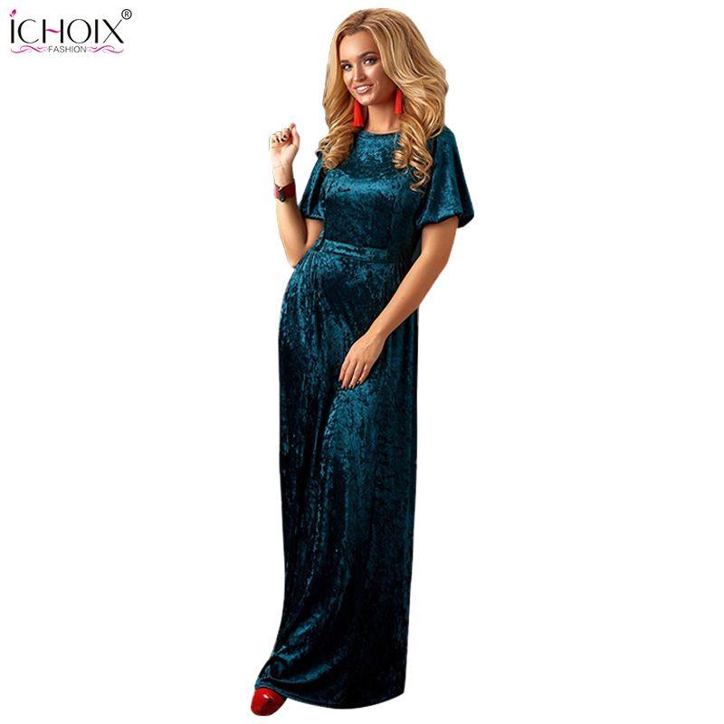 79dc680f5e92bc 2018 Autumn Velvet Long Dress Women Winter Floor Length Bodycon Dresses  Vintage Femme Elegant Evening Party Maxi Dress Vestidos Dressing For Women  Black ...