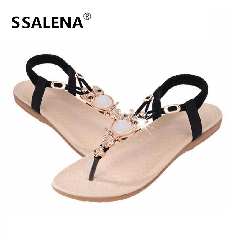 55bea917998582 Womens Owl Crystal Flat Sandals Summer Outdoor Anti Slip Open Toe Sandals  Women Bohemian Style Fashion Cool Sandals AA40130 High Heel Shoes Wholesale  Shoes ...