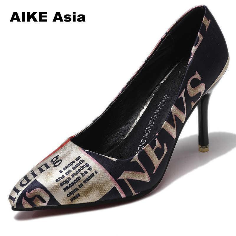 801b6abd2732da Großhandel Designer Kleid Schuhe 2019 Damen Pumps Leopard Zebra Muster  Spitze Zehen Dünne Absätze Frau Plattform Designer Luxus Zapatos De Mujer  Wedges Von ...