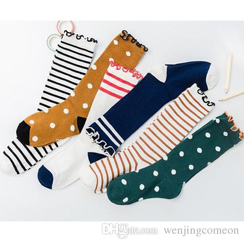 c837486bbfb 1-12 Years Old Cotton Spring Winter Autumn Baby Girls Boys Kids Socks  Children Striped Dot Christmas Socks Kids Gifts 3 Sizes Online with   1.26 Pair on ...