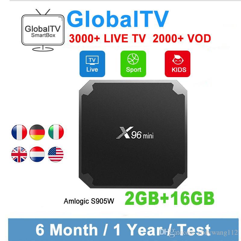 Original X96 MINI With IPTV Subscription France IPTV abonnement USA CANADA  ITALY EUROPE Arabic IPTV Android 7 1 TV Box 2GB 16GB