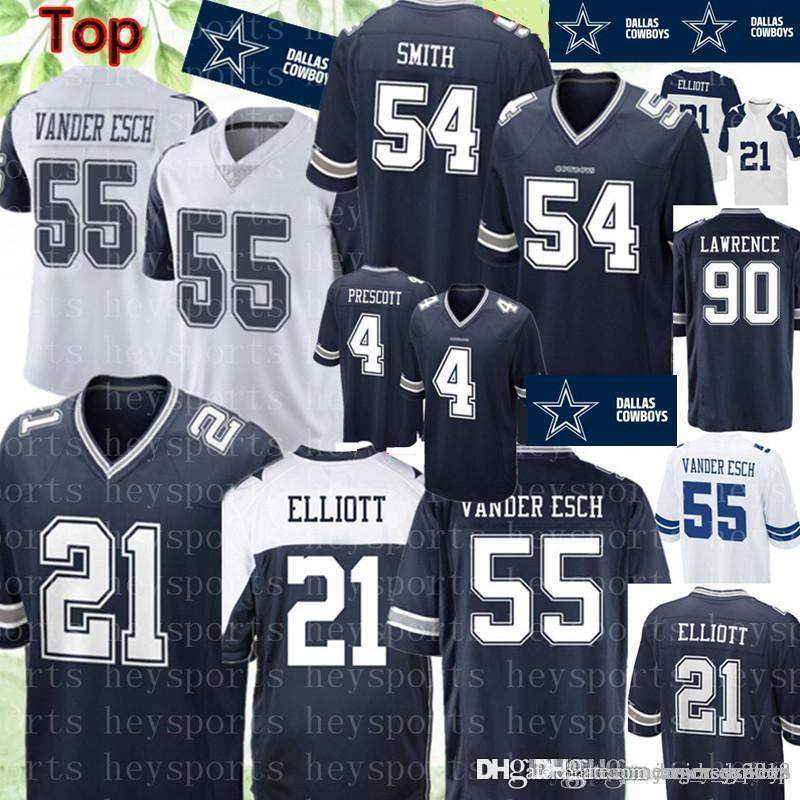 decc5cef79b 2019 21 Ezekiel Elliott Dallas Cowboys Jersey 19 Amari Cooper 55 Leighton  Vander Esch 4 Dak Prescott 54 Jaylon Smith 90 Lawrence Jerseys From  Big_red_shop, ...