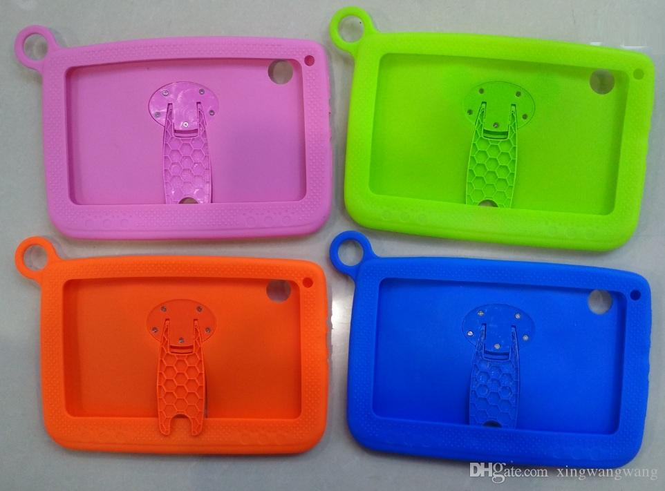 Wholesale-Soft silicone stand case for Kids Tablet PC 7 inch Quad Core children tablet Android A33 Q88 cover cases