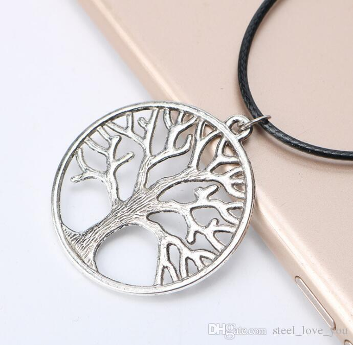 85baf15f876ed Vintage Tree of Life Pendant Necklaces Antique Silver & Gold Plated Charm  Necklace Peace Trees Sweater Chain Fine Jewelry Xmas Gift