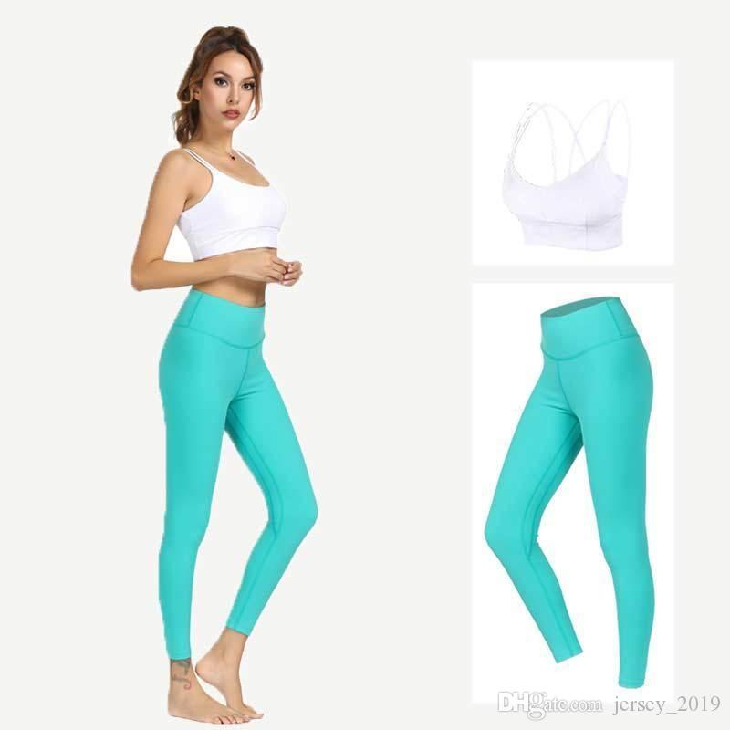 d510e9d001d 2019 2019 New Spring Summer Yoga Suit Woman High Elastic Leggings+Bra Sport  Suit Tight Beautiful Back Bodybuilding Gym Fitness Set XL  180642 From ...