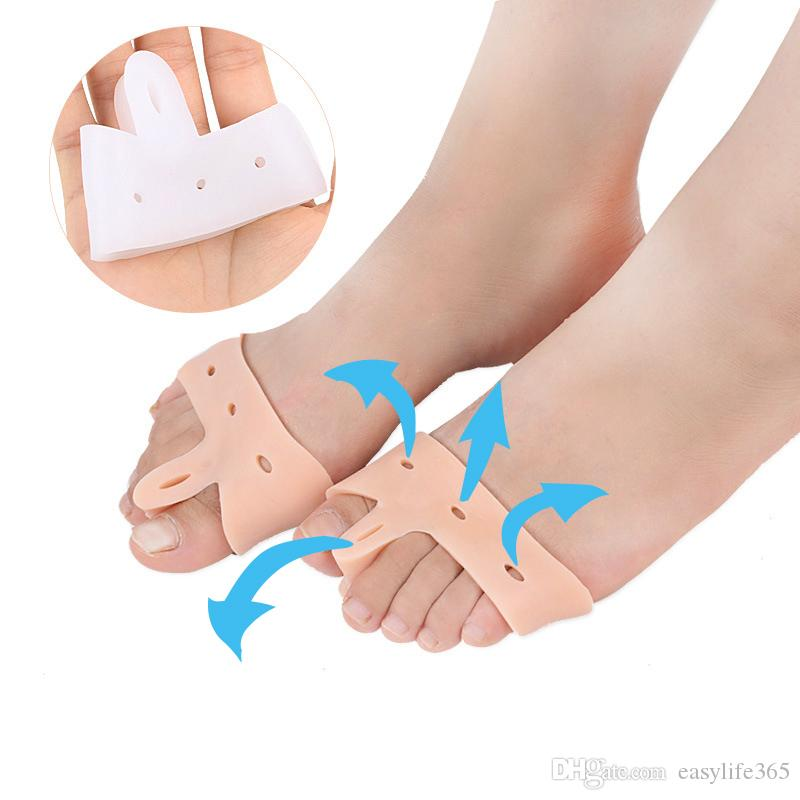 4a34fa0400 Silicone Gel Toe Separators Hallux Valgus Toe Stretcher Painful Bunions  Forefoot Protection Pad Bunion Guard Separates Cushions Toes Insole Canada  2019 From ...