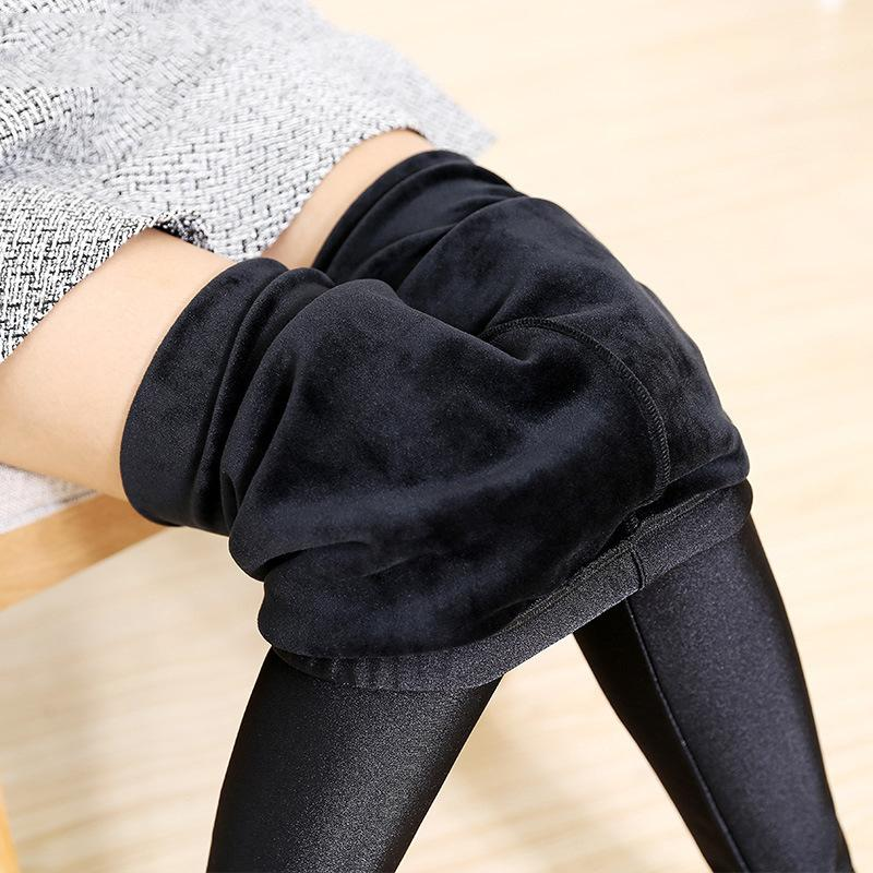 Plus Women Size 5xl Velvet Thick Leggings Lady Fitness Winter Warm Legging Street Outer Wear Big Size Xl Thermal Pants