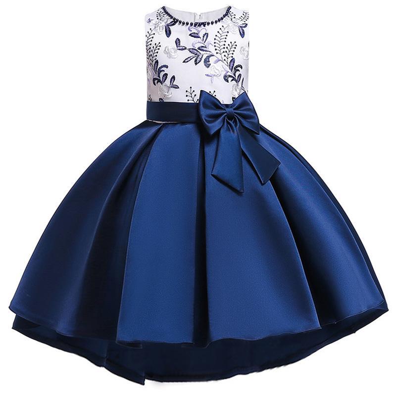 c2fa53b13688 2019 Blumenmädchen Kleid Für Mädchen Kinder Kleidung Perlen Stickerei  Hochzeit Mädchen Kleider Für Kinder Party Trailing Custumes Y190516