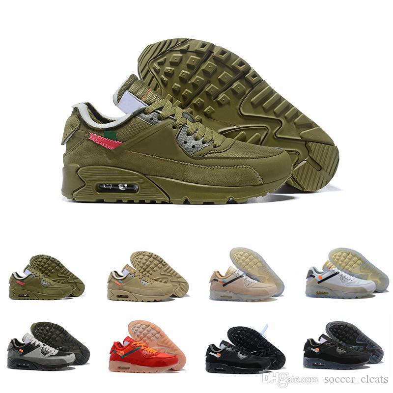 buy popular 8df56 744c9 Zapatillas Nike Air Max 90 Off White 90s Desert Ore Zapatillas De Deporte  Para Hombre Zapatillas Auténticas En Negro Y Verde Zapatillas Deportivas  Clásicas ...