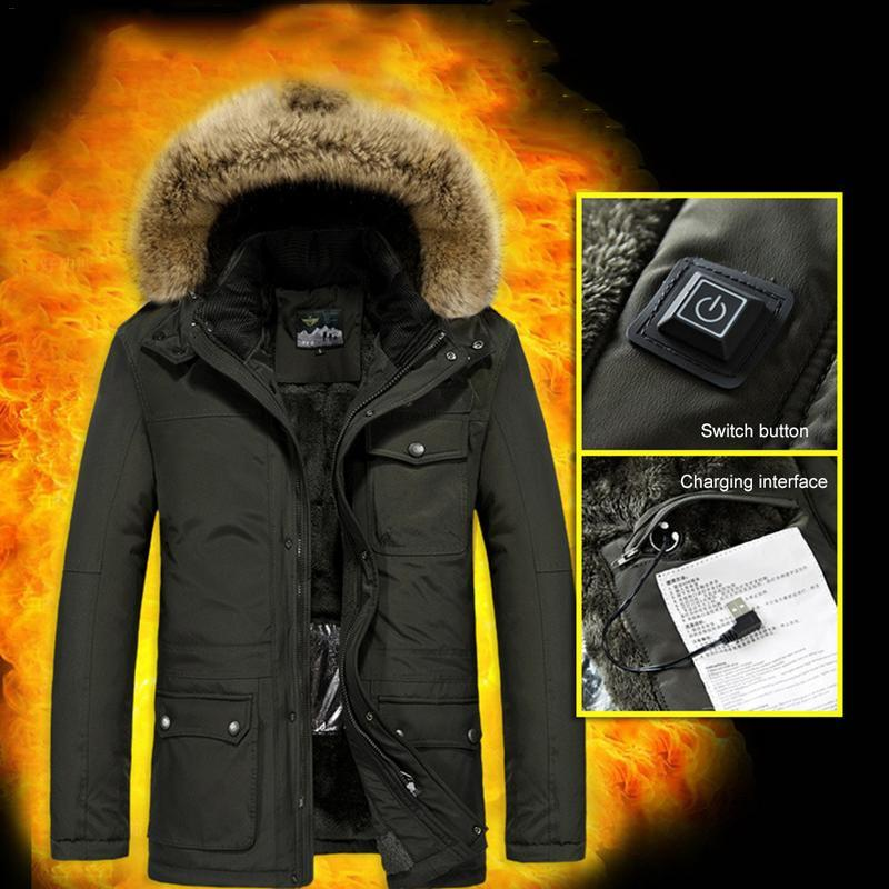 905ff48bfe520 2019 Windproof Winter Thermal Coat Heated Jacket Clothes Winter Sport  Heated Jacket For Men Women From Pothos, $69.17 | DHgate.Com