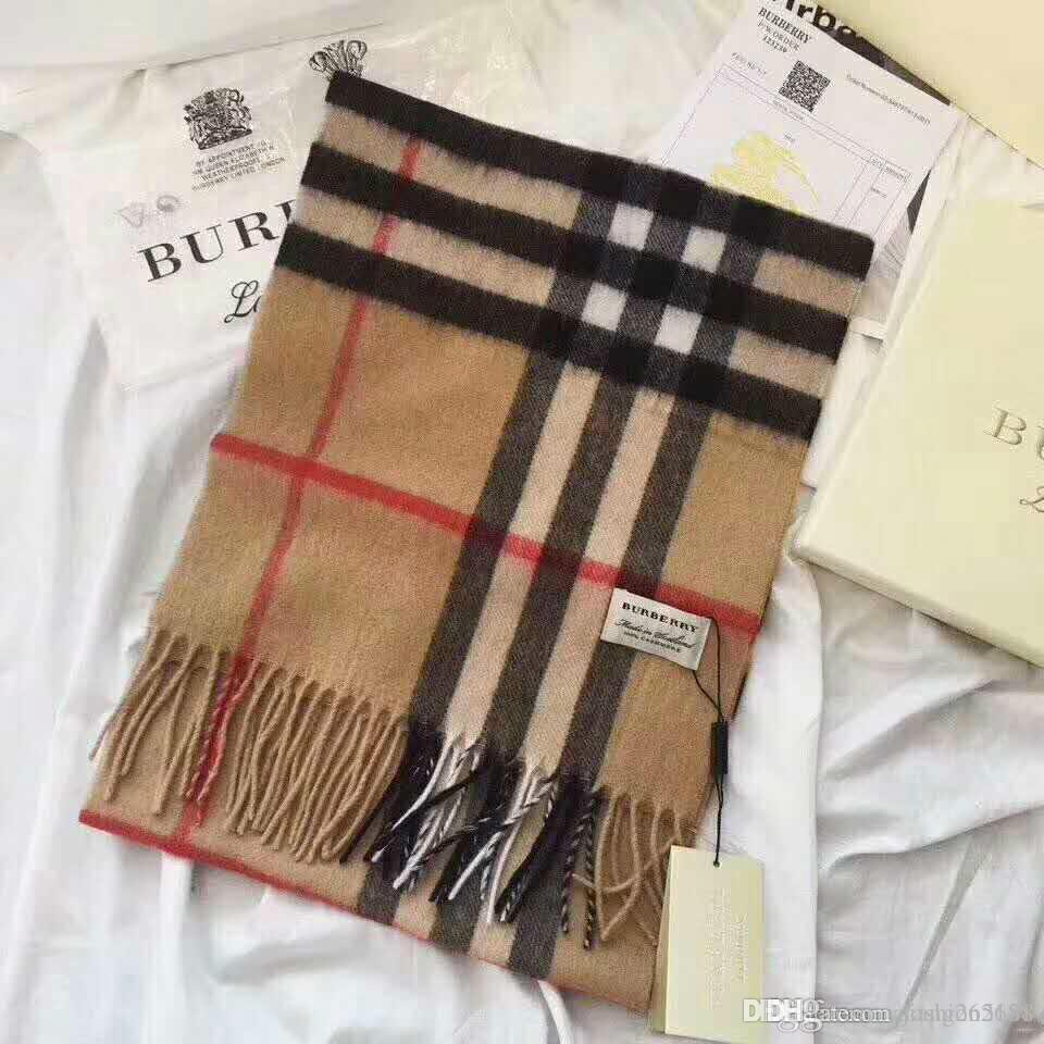 new arrival 38927 fb381 Unisex alta qualidade cashmere marca lenço de luxo mulheres e homens marca  cachecóis marca longo design padrão xadrez cachecol mulheres xales tamanho  ...