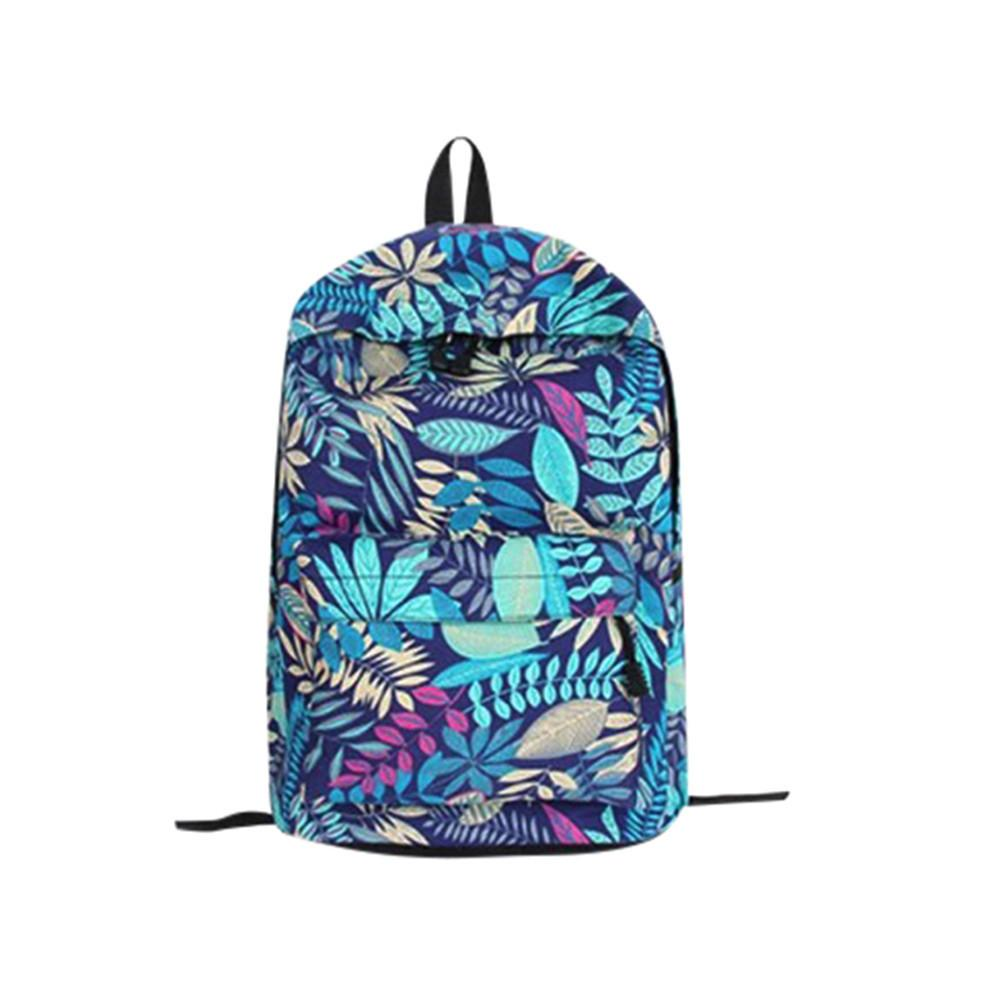 e5d6a0e784 2019 New Fashion Unisex Backpack Leaves Printing Teenage Girls School Backpack  Colorful Bookbag Female Students Zipper Bags Backpack Purse Dog Backpack  From ...