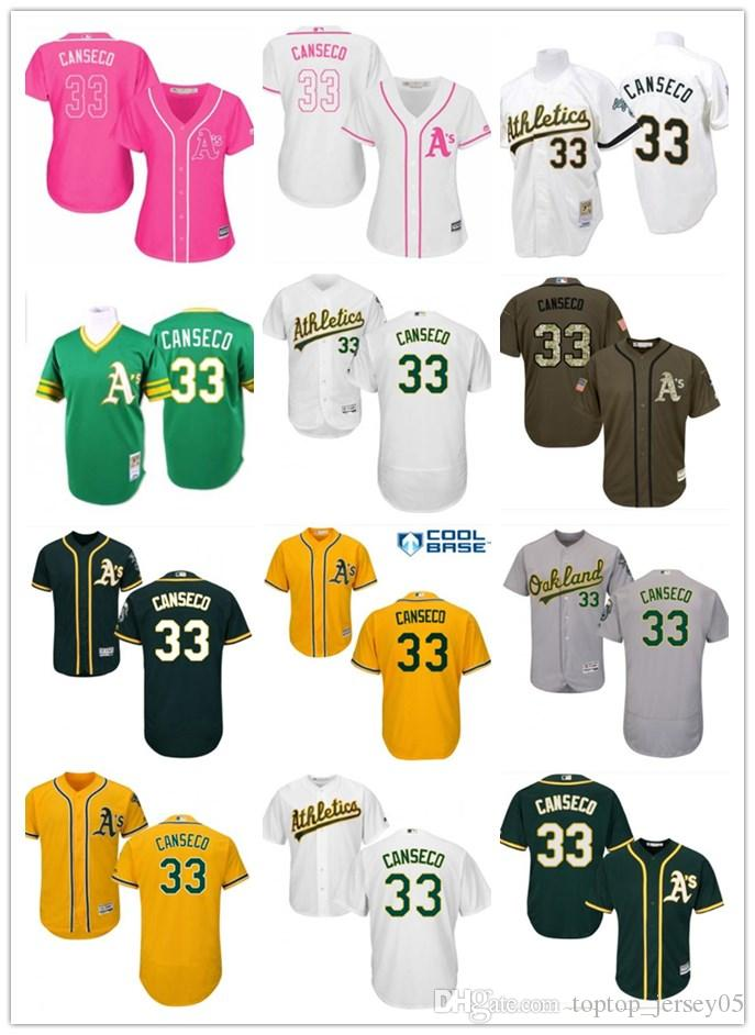 new product 0e627 8f500 2018 top Oakland Athletics Jerseys #33 Jose Canseco Jerseys  men#WOMEN#YOUTH#Men s Baseball Jersey Majestic Stitched Professional  sportswear