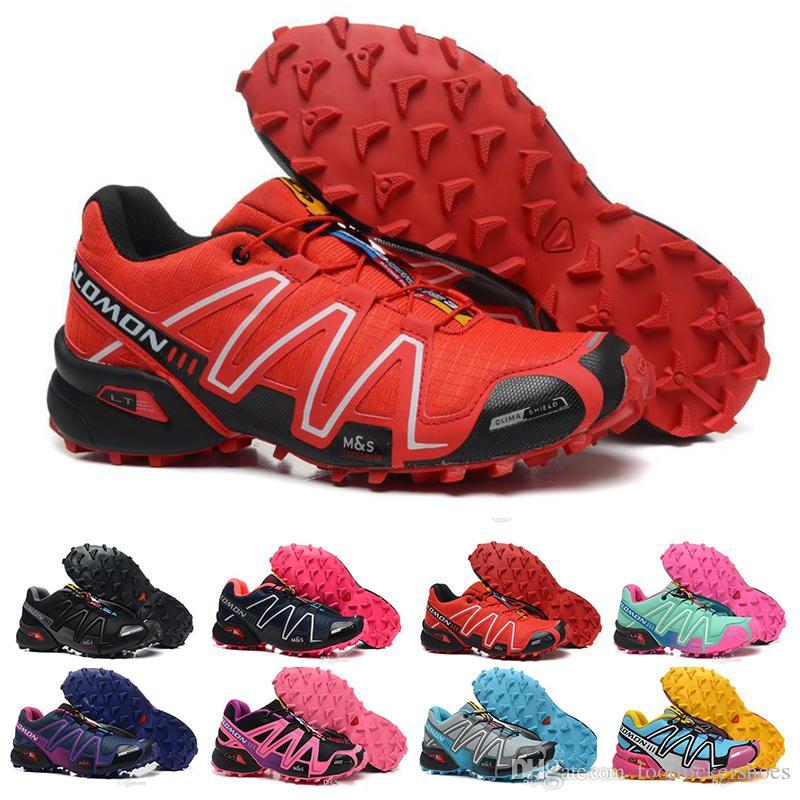 50fcd6c7e7cb 2019 Women And Girls Speedcross 3 Running Shoes Designer Triple Red Pink  Black Silver Orange Speed Cross 3 Sports Luxury Brand Sneaker Size 36 41  From ...