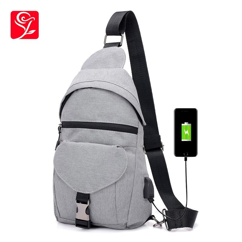 6758399b158 New Casual Anti Thief Chest Bag Men Single Shoulder Bag Male Big Capacity Crossbody  Women USB Charging Hand Chest Bags Relic Purses Fashion Bags From ...