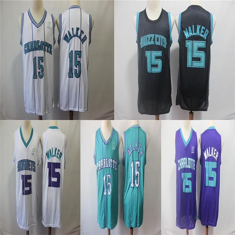 394cc63e0 Hornets Kemba 15 Walker Jersey Charlotte Men Stripes Basketball Jersey 15  Walker Basketball Jerseys Men Jersey Online with  32.06 Piece on ...