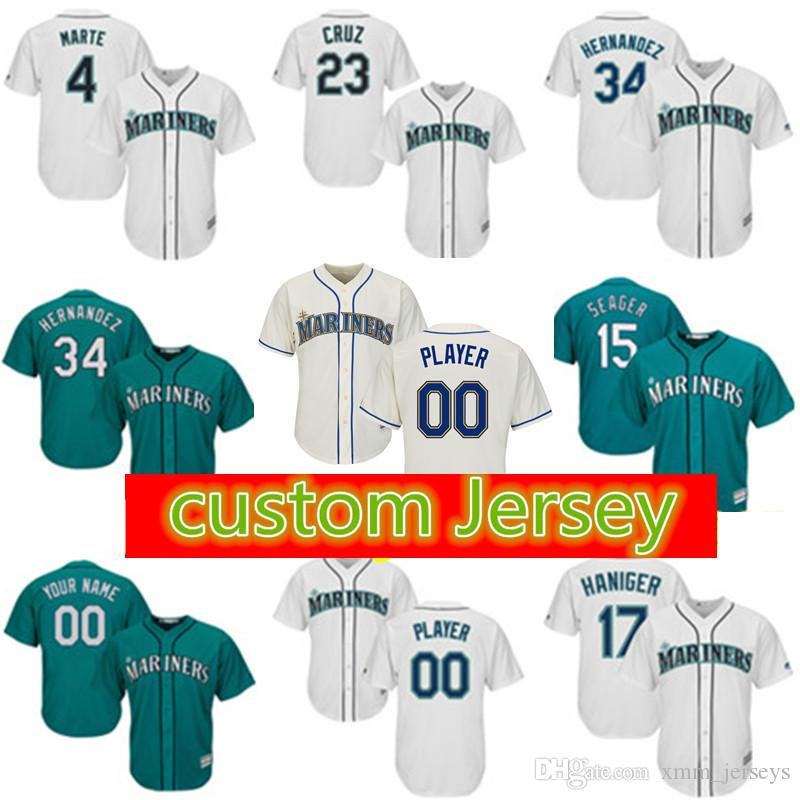e4856f411 ... coupon for 2019 seattle mariners custom jersey 51 suzuki 11 edgar  martinez 15 kyle seager 23