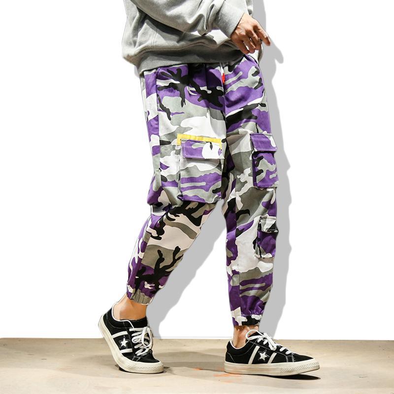 Herren Taschen Cargo Harem Schweiß 5xl Männlich Hosen Lila Pants Harajuku Military Hop Streetwear Joggers Ck34 Camo Hip Männer qUVMpSz