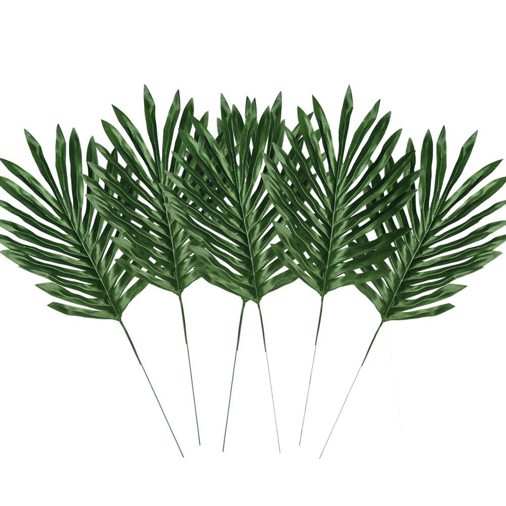 New Big Palm Leaves Silk Fake Plant Artificial Leaf Home Office Decorations 6pcs/Set