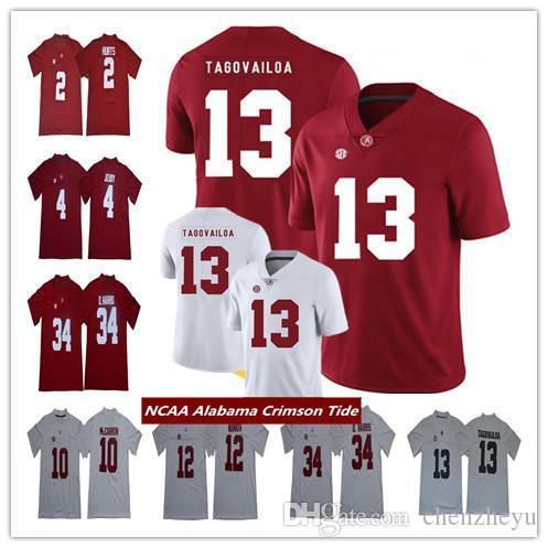 new concept e3586 2facd NCAA Alabama Crimson Tide Jersey 13 Tua Tagovailoa Jerry Jeudy Najee Harris  Damien Harris AJ McCarron Joe Namath College Football Jerseys