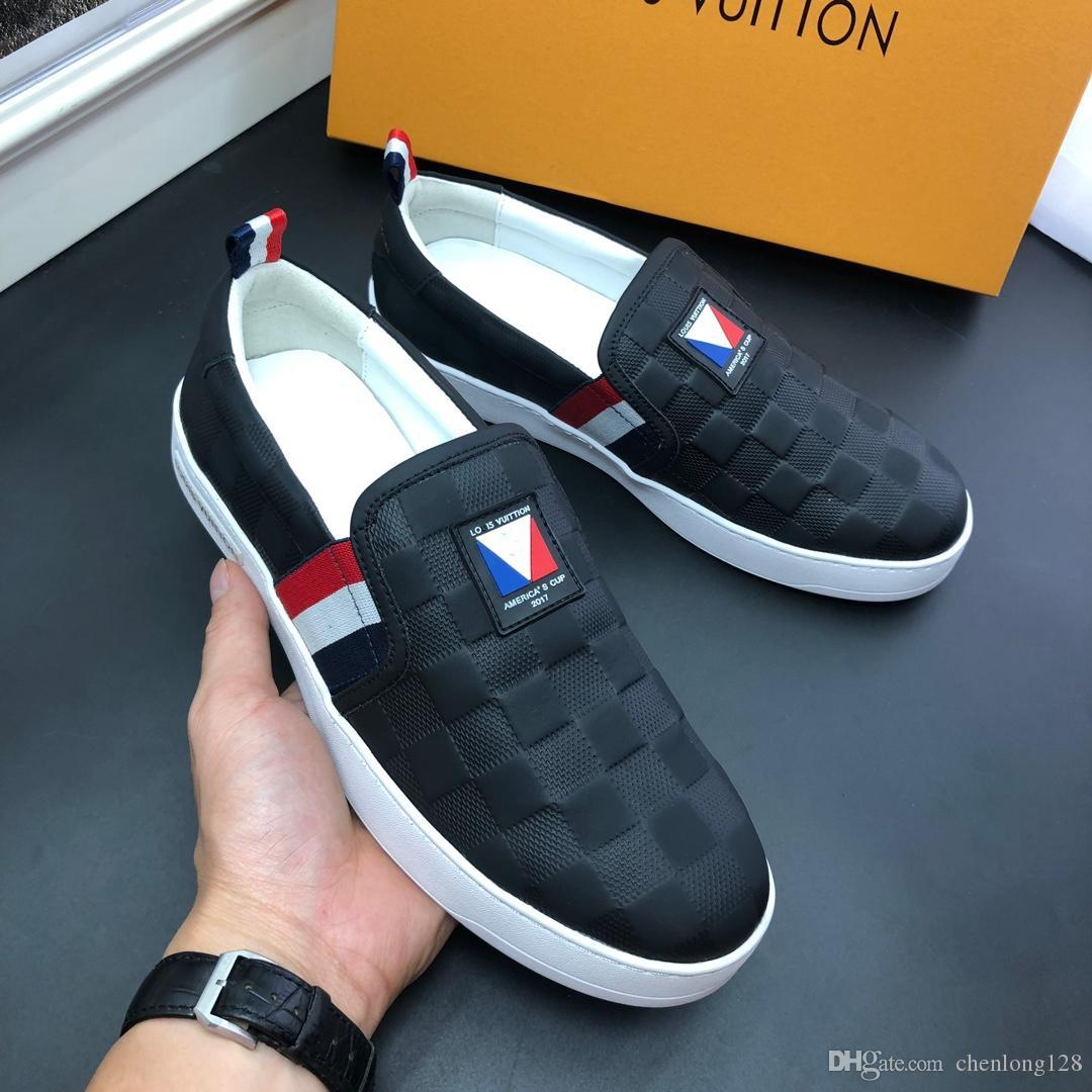 2019 new Quality Chain Reaction Luxury Designer Shoes Mens New Fashion designer sneakers mens shoes Size 38-45
